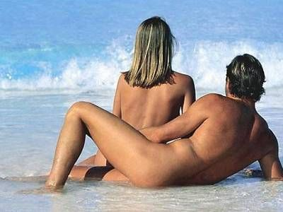 nudist couple in the beach